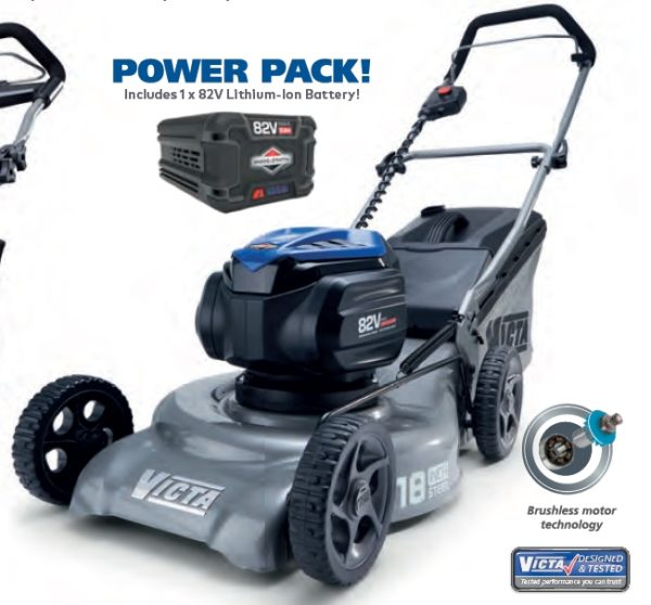 Victa 82V 18 Inch Power Cut Mower Kit