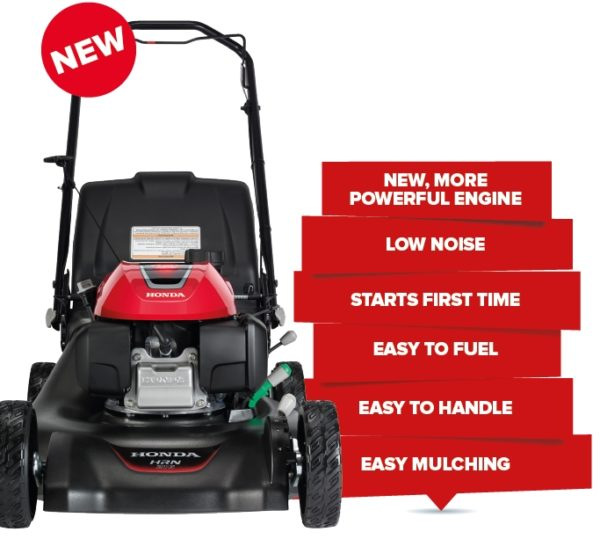 HRN216PKU ENGINE BRAKE PUSH MOWER